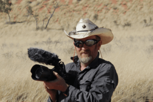 Director of Photography Paul Elliott shooting on location in Western Australia.