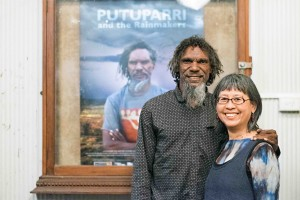 Tom 'Putuparri' Lawford and Director Nicole Ma in Broome for the premiere of Putuparri And The Rainmakers.